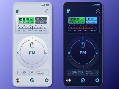 Radio Apps - Neumorph Style neumorphism radio app illustration uidesign