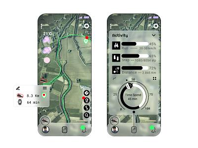 Running Sports tracking app sportmaps runningsport vector webdesign uidesign
