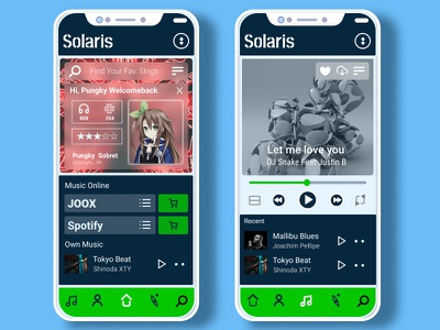 Solaris Apps mockup music player musicapps vector ux illustration uidesign