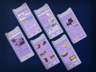 Furniture Shop Apps - UI Design - Retro Style styleretro furniture onlineshop appsui graphic design retro illustration branding bandung vector uidesign
