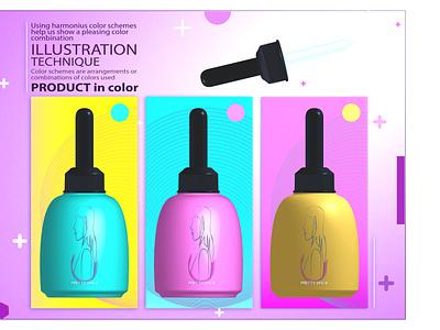 Product in color - SFG-8 colour 3dimage kixpandemix product indonesia branding vector illustration