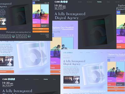 Dark X Light - Cube Five Agency - UI Designer 🙇🔥❤️ indonesia in designgraphic hireme designersui stylelight styledark visualdesign website darklight kixpandemix branding vector uidesign
