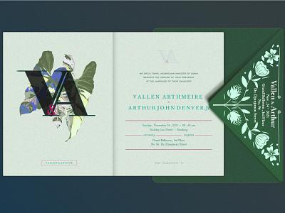 Card Invitation - Green Explore - Illustration Element collorpalette visualcreative graphicdesign carddesigner invitation wedding cardinvitation branding illustration