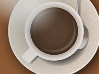 Coffee cup illustration (for a gift card)
