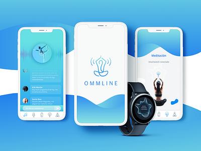 Ommline millennials energy breathing yoga meditation smartwatch web app ui typography ux logo branding brandidentity design