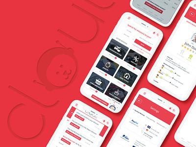 Cloutr shopping buyer app design brandidentity design css app ux ui banding branding
