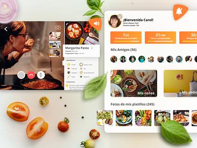Dinnernet video call app restaurants app food app cooking app cook app tablet app app design css app ui ux logo banding branding brandidentity design