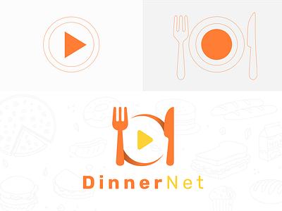 Dinnernet tablet app app ux ui logo banding branding brandidentity design