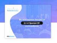 Front-end İstanbul Call for Sponsors