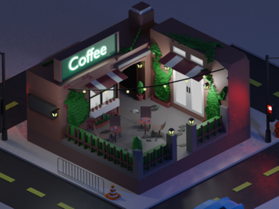 Low Poly Coffee Shop