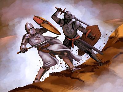 The Battle digital painting art illustration