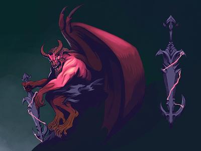 Baal-Rafar visual development concept art comic procreate comics graphic novel character design illustration