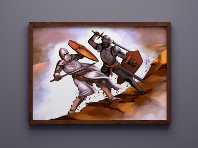 """The Battle"" Art Commission character design procreate digital painting digital art art illustration"