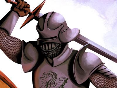 """The Battle"" (Detail) digital painting art procreate character design illustration"