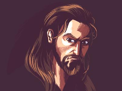 Krioni, Guardian of Ashton (Detail) digital painting comic graphic novel comics procreate character design illustration