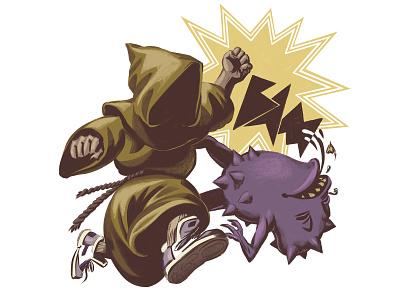 Break Through Discouragement editorial digital painting comics procreate character design illustration