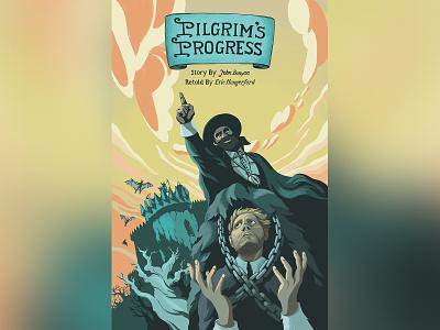 Pilgrim's Progress: Issue #1 Cover Art hand lettering word mark logo design digital painting graphic novel comic procreate comics character design illustration