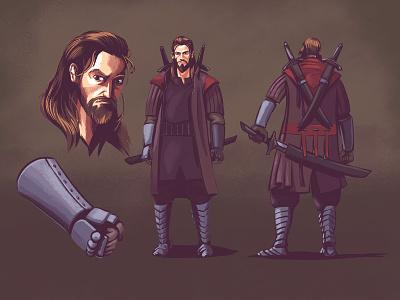 """Krioni"" Concept digital painting graphic novel comic comics procreate character design illustration"