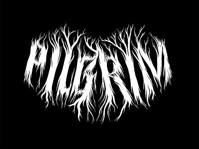 Pilgrim Wordmark handlettering typography design procreate hand lettering