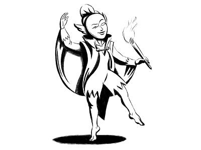 The Muse digital painting comic comics procreate character design illustration