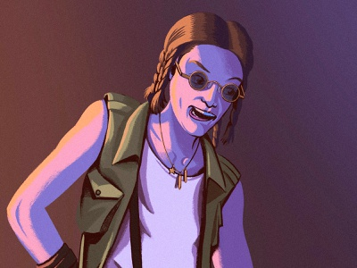 """""""Cereal"""" from """"Hackers,"""" 1995 nft digital painting procreate character design illustration"""