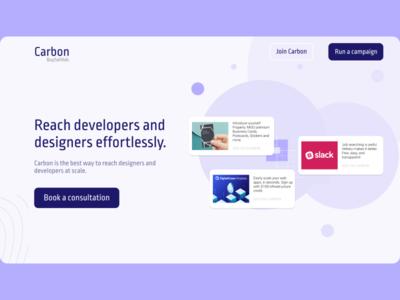 Carbon website lettering app flat ui ux typography branding website web design