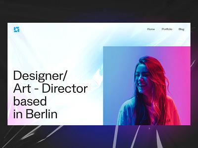 Portfolio website concept minimal design web ui ux
