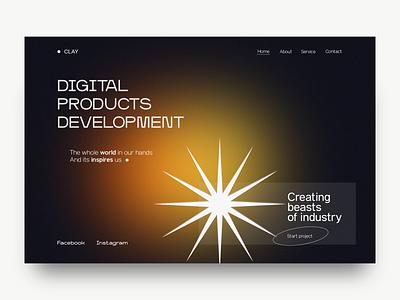 Digital agency website gradient design web ui ux