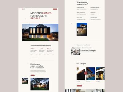 Brixton Homes website web minimal design ui ux