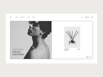 Mens online boutique - Concept web minimal design