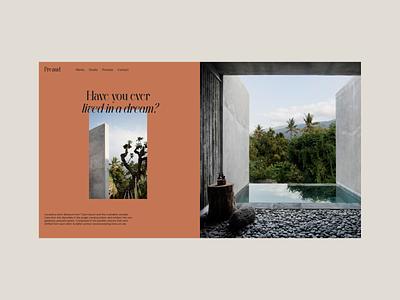 Preaud - Concept architecture interior ui ux minimal design web