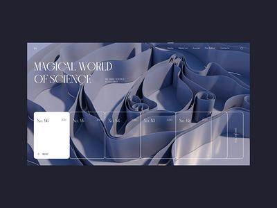Science Journal - Design concept 3d minimal ux typography ui design web