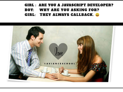 Dating with a javascript developer
