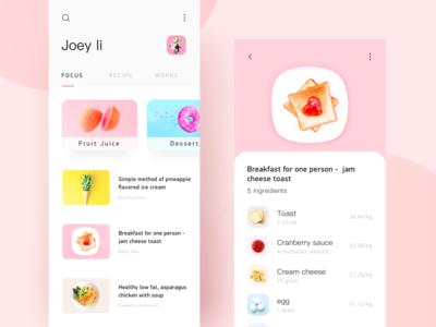 Food App Design design ui
