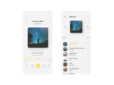 Neumorphism music player app design neu uiux design figma neumorphism uiux app design