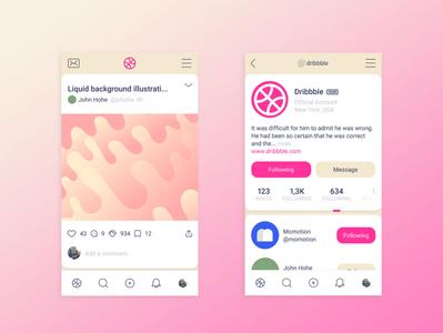 Dribbble Redesign dribbble redesign app ux branding ui logo design