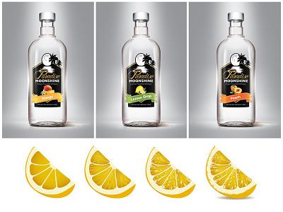 Paradise Moonshine logo design branding label