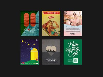 Posters from college student work vector design illustration brasil ufpe recife pernambuco poster design chilli beans consul starbucks titanic matrix a3 print editorial posters