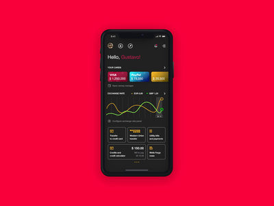Wells Fargo - Banking App ux ui dark theme banking app user experience mobile app design interaction interface animation design studio design app