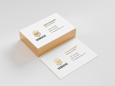 Sierratac Business Card premium foil stamp gold foil stamp business card branding