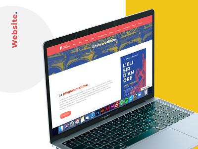 Website - Teatro Petruzzelli website logo branding web design ux ui