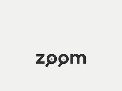 zoom zoomout zoomin zoom branding design typography minimal cleverwordmark wordmark logo creative design expressive type brand creative expressive typography