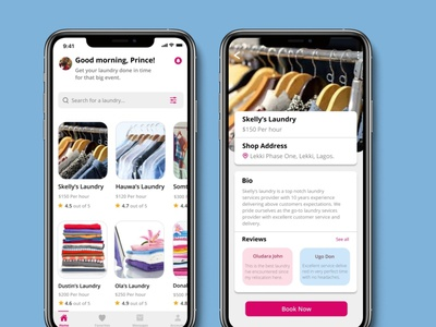 Laundry Booking App concept productdesigner ui userexperiencedesign uiux designer userinterfacedesign mobile design mobile app design uidesign uiuxdesign productdesign