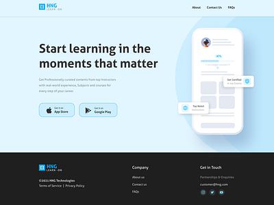 App Landing Page typography ux ui design