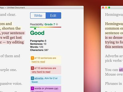 Hemingway App Revision redesign self initiated