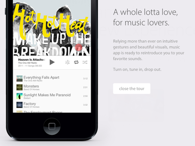 App Tour (animated with css) css3 iphone app ui