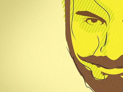 Face Redux illustration texture yellow mustachio