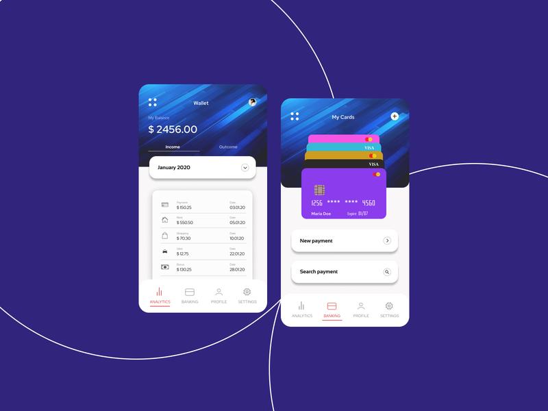 Wallet App Project wallet app ios app ios vector ux ui mobile app design