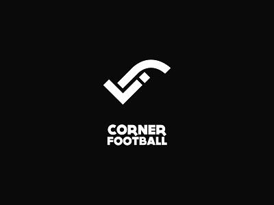 Corner Footbal flat branding design typography logo brand design brand
