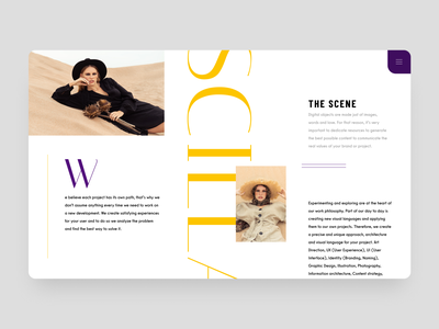 Scilla flat typography ux ui web design